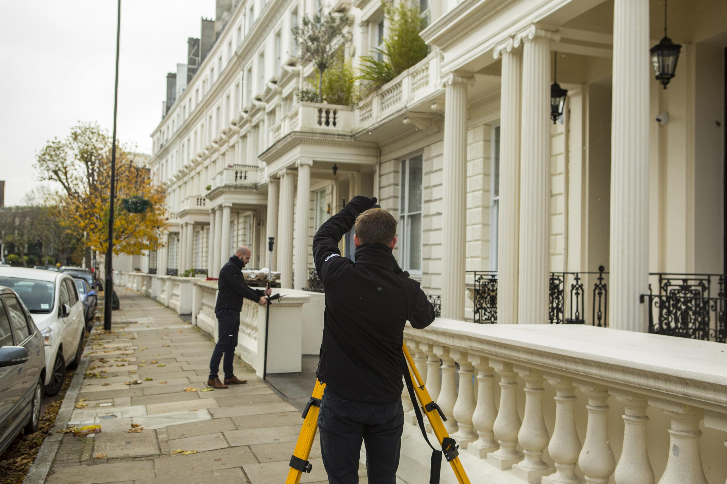 Redline Surveying A Street In London